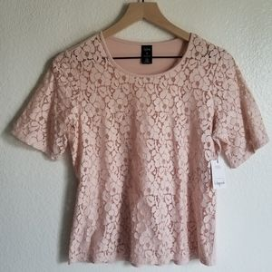 NWT Pink Floral 'City Streets' Shirt